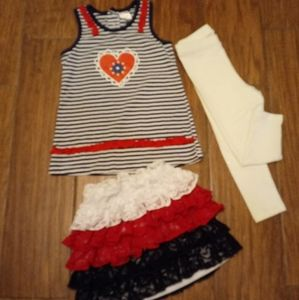 NAME BRAND GIRLS SZ 2T AND 4T(fits like 3T)